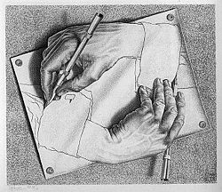 Escher, Drawing Hands. Source: Wikimedia