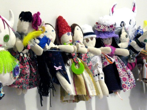 dolls made by children in the workshop