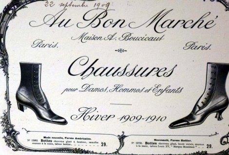 פרסומת לנעלים בבון מרשה, סוף המאה ה-19