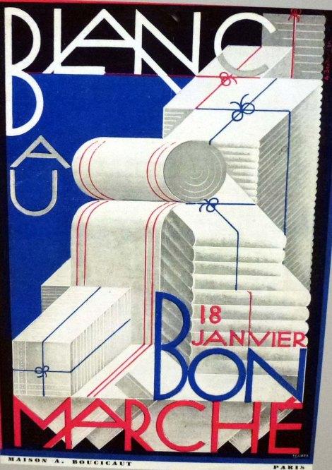 פרסומת למגבות וסדינים בבון מרשה בסגנון גרפקית הבאוהאוס