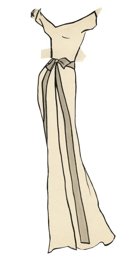 שמלה לבובה המצוירת