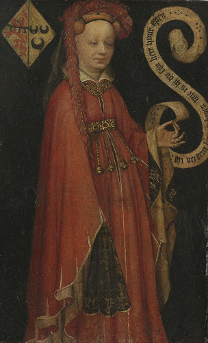אציל הולנדי מימי הביניים, לובש ארגמן