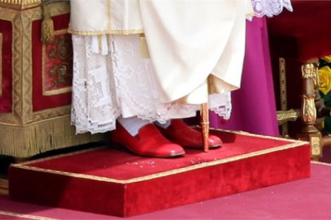 The pope's red shows