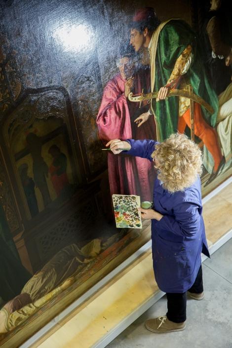 עבודות השחזור של יצירת האמנות של מלמנטי