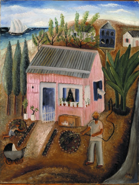 ראובן רובין, בית ליד הים, 1925-1923, שמן על בד, אוסף פרטי, ניו יורק