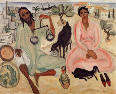 ראובן רובין, מוכרי הירקות, 1923,שמן על בד, אוסף הפניקס, חברה לביטוח בעמ