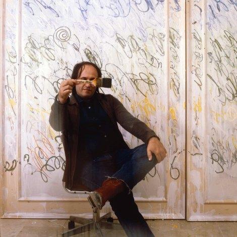artistaconopera.Mario Schifano,Modena 1982