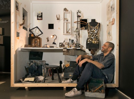 Husam el Odeh recreates part of his studio