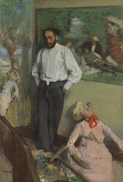 Portrait of Henri Michel, by Dega