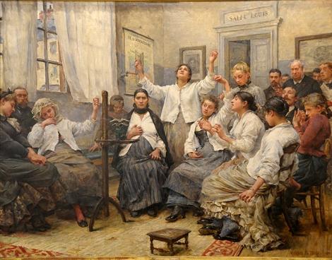 Georges Moreau de Tours (1848–1901), Les Fascinées de la Charité (Patients in a State of Fascination at La Charité Hospital,