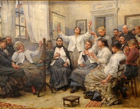 Georges Moreau de Tours (1848–1901), Les Fascinées de la Charité (Patients in a State of Fascination at La Charité Hospital,