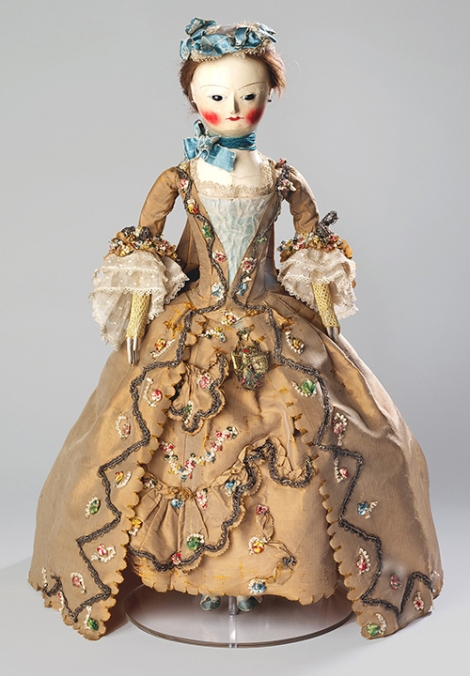 nknown maker (British, mid-18th century), Fashion doll with costume and accessories,