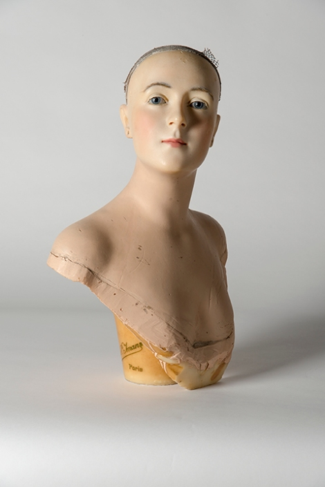 Wax bust by Pierre Imans, 1910s–20s