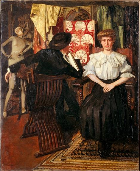 Wilhelm Trübner (1851–1917), Studio Interior, 1888