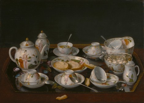 Jean-Etienne Liotard, Still-life: Tea Set, c. 1770???83 Oil on canvas mounted on board, 37.5 x 51.4 cm The J. Paul Getty Museum, Los Angeles, inv. 84.PA.57 Photo The J. Paul Getty Museum, Los Angeles