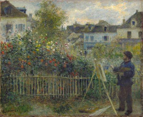 Auguste Renoir, Monet, Painting his garden at Argenteuil