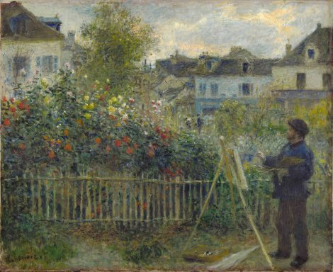 Auguste Renoir, Monet, Painting his garden at Argenteuil