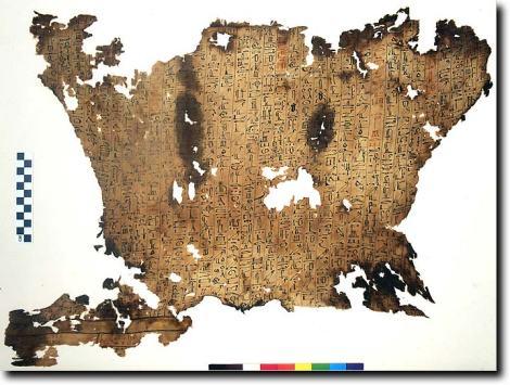 תכריכי מומייה מצרית ממוזיאון פיטצוויליאם בקיימברידג'. מתוך אתר המוזיאון.