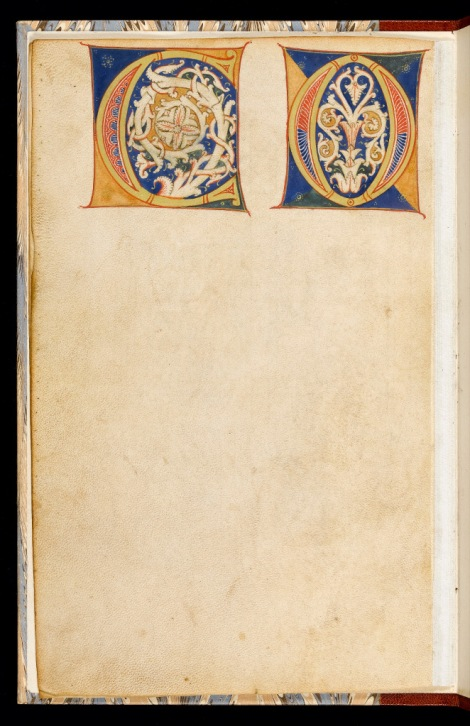 Model book of initials. Italian, c.1200. An exercise book, presumably intended for the use in the training of scribes and illuminators Vellum, 232 x 150 mm